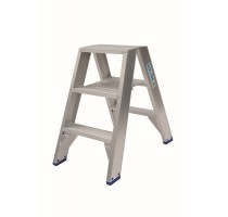 DUBBELE TRAPLADDER 2X3 HOOGTE 0.75M