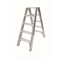 DUBBELE TRAPLADDER 2X5 HOOGTE 1.25M