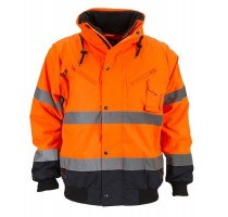 BOMBER REFLECT L FLUO GEEL/NAVY