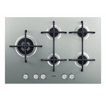 Gaskookplaat/5 branders/inxo/thermo74cm