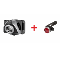 B5R+B2R  bicycle set front+rearlightherlaadbaar Led Lenser