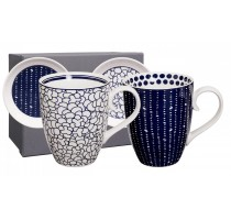 SET 2 MUGS+SCHOTEL 380ml BLEU DE NIMES