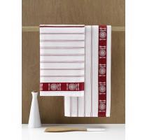 De Witte Lietaer BML keukentextiel - theedoek wit/rood
