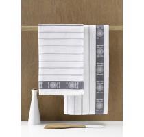 De Witte Lietaer BML keukentextiel - theedoek wit/grijs