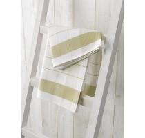 De Witte Lietaer Mixte keukentextiel - theedoek wit/yellowgreen