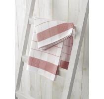 De Witte Lietaer Mixte keukentextiel - theedoek wit/rood