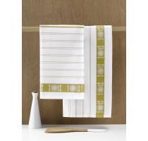 De Witte Lietaer BML keukentextiel - theedoek wit/yellowgreen