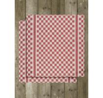 De Witte Lietaer Groom keukentextiel - theedoek wit/rood