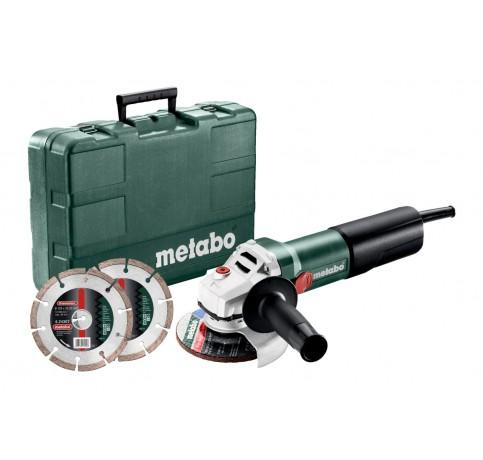 WQ 1100-125 Set haakse slijper + koffer