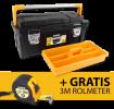 Prom/Gereedschapskoffer 42L+bak650x300x295mm + gratis rolmeter