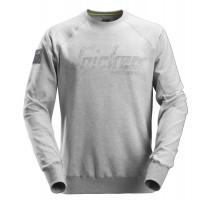 Logo Sweatshirt Gemeleerd grijs XL