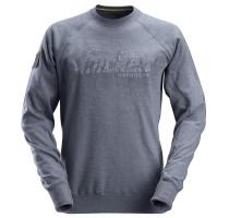 Logo Sweatshirt Gemeleerd Blauw M