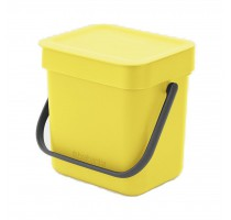 Sort&go afvalemmer 3l Yellow