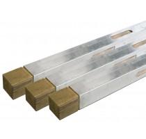 Metserprofiel 300 cm met hout - Alu ProWood