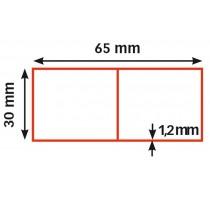 Alu rij, 65 x 30 / 1,2 mm / 100 cm