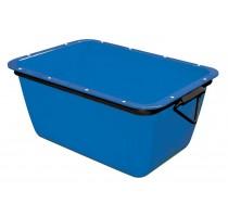 Mortelbak 200 L - blauw - rechthoekig