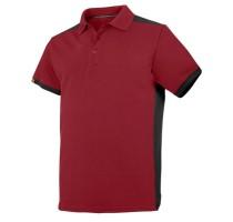 AW Polo Shirt Color Combo Chili red MaatL