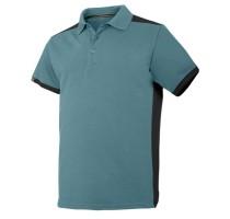AW Polo Shirt Color Combo Petrol/Black Maat M