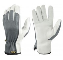 Precision Leather Glove 10 White/Greyy Maat 10