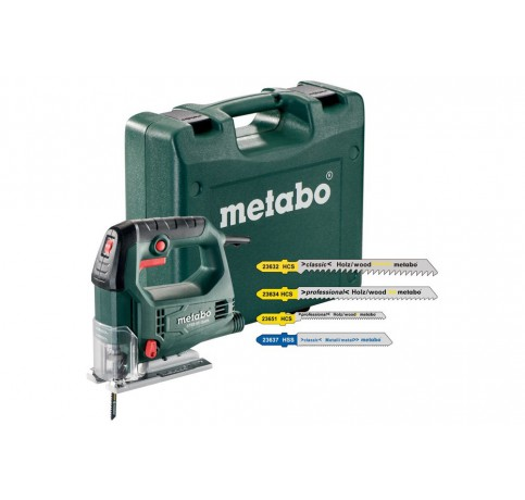 STEB 65 Quick Set in case + 20 mixed jigsaw blades Decoupeerzaag 450W  PVC